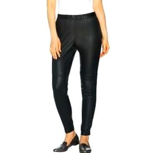 28WP H by Halston Faux Leather & Ponte Leggings